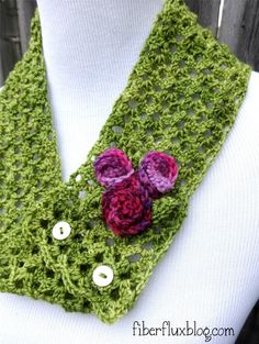 Fiber Flux...Adventures in Stitching: Free Crochet Pattern...Vintage Corsage Cowl