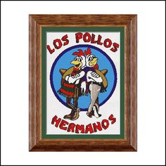 """Los Pollos Hermanos Cross stitch logo pattern 