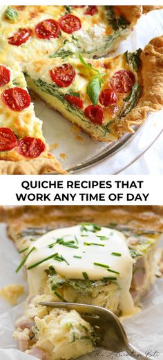 29 Quiche Recipes That Work Any Time of Day - Brunch Recipes Egg Recipes For Kids, Egg Recipes For Breakfast, Fun Easy Recipes, Good Healthy Recipes, Brunch Recipes, Family Recipes, Breakfast Ideas, Healthy Eats, Delicious Recipes