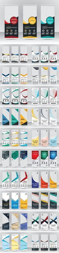 Food infographic Advertising Roll up banner 39