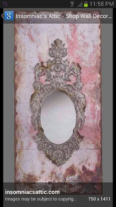 Vintage Floral Picture Ornate Oval Metal Brass Frame Convex Bubble Glass To Invigorate Health Effectively Antiques