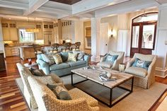 Kiawah Family Home - traditional - living room - charleston - Margaret Donaldson Interiors