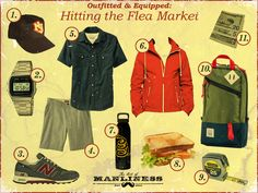 Outfitted & Equipped: Hitting the Flea Market http://www.artofmanliness.com/2013/06/26/outfitted-equipped-flea-markets/