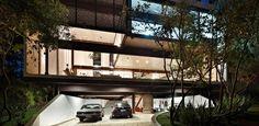 """Com planta em """"U"""", casa de 505 m² proporciona vistas privilegiadas para a cidade, as serras e mata preservada"""