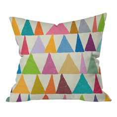Nick Nelson Analogous Shapes in Bloom Pillow