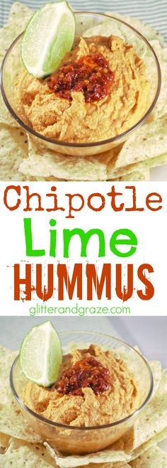 This chipotle lime hummus has the right amount of spice and tang all rolled into one for a healthy snack.