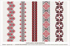 Traditional Romanian blouses are made from cotton or linen, sometimes silk, and… Embroidery Motifs, Beaded Embroidery, Cross Stitch Embroidery, Embroidery Designs, Cross Stitch Borders, Cross Stitch Patterns, Palestinian Embroidery, Loom Beading, Embroidery Techniques