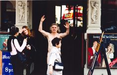 Billy Connolly expresses himself before a naked dance around London's Piccadilly Circus for Red Nose Day 2001 Billy Connolly, Red Nose Day, Piccadilly Circus, Looking Back, Charity, Photo Galleries, Naked, Dance, London