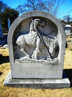 """The End of the Trail, Benjamin Franklin """"Ben"""" Perry, Jr (1883 - 1933) ~ A depiction of the sculpture by the same name by James Earle Fraser (at the National Cowboy & Western Heritage Museum in Oklahoma). Oakland Cemetery, Atlanta, Fulton County, Georgia #headstone #tombstone #gravestone"""