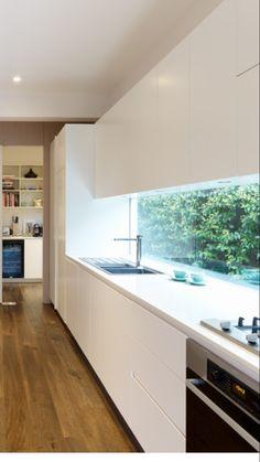 window all day - Wohnen -Long window all day - Wohnen - Home Decor Kitchen, Home Kitchens, Kitchen Ideas, Küchen Design, House Design, Design Moderne, Cuisines Design, Kitchen Remodel, House Plans