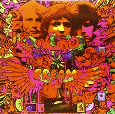 album cover art (front) by Martin Sharp for Cream's 1967 LP, Disraeli Gears