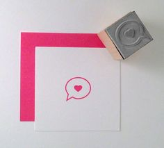 Mini Love Callout Rubber Stamp by cupcaketree on Etsy