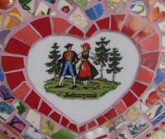 Mosaic Scrapper Heart (close-up)