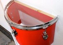 Drum Lessons For Kids, Drums Artwork, Music Furniture, Music Bedroom, Music Nursery, Diy Drums, Drum Room, Guitar Room, Creation Deco