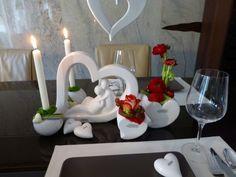 TIZIANO Amore Kollektion 2015 gedeckter Tisch zum Valentinstag