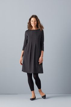 Wearever Center- Pleat Dress paired with the Ankle Length Leggings.