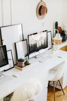 Top Modern Office Design Trends – Modern Home Modern Office Decor, Industrial Office Design, Home Office Decor, Home Decor, Office Ideas, Workspace Inspiration, Decoration Inspiration, Interior Inspiration, Furniture Inspiration