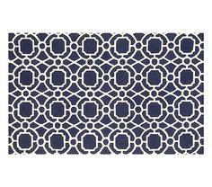Preppy Trellis Rug - Navy Possibility for NYC or Beach