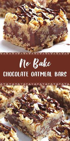 No bake chocolate oatmeal bars dapur simbah easy no bake cheesecake bites 13 Desserts, Cookie Desserts, Cookie Recipes, Delicious Desserts, Dessert Recipes, Yummy Food, Easy Dessert Bars, Healthy Food, Easy Chocolate Desserts