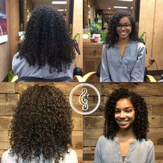We LOVE client selfies! Before and after first ever Deva Cut by Lynne DaSilva, Deva educator and certified curl specialist. #devaspecialist
