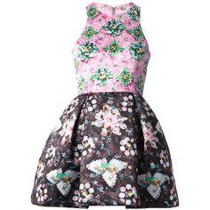 Mary Katrantzou 'Ohara' dress ($1,360) ❤ liked on Polyvore featuring dresses, racerback dress, sleeveless pleated dress, sleeveless dress, pleated dress and multi color dress
