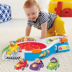 Laugh & Learn® Puppy's Smart Stages™ Speedway Gift Set | BrandsLaughLearn | Fisher Price