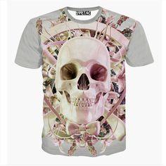 Pink Skull 3D Print Tshirt