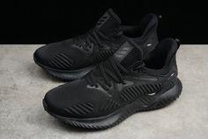 876007d889ee2 2018 New Arrival Men Adidas Alphabounce HPC AMS 3M Triple Black Noir AC8271