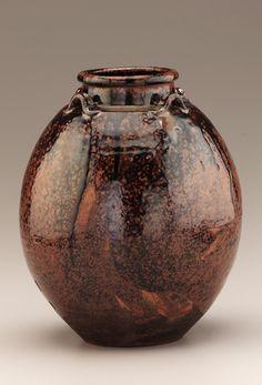 Seto ware Sobokai type tea-leaf storage jar with four lugs  17th-18th century