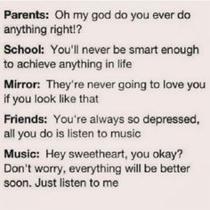 Music saves us from everything I guess