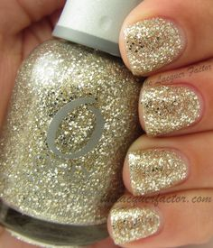 orly halo | orly halo gold glitter mixed with large silver hex glitter