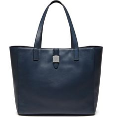 Mulberry Tessie Tote ($605) ❤ liked on Polyvore featuring bags, handbags, tote bags, regal blue, genuine leather tote bag, blue leather tote, blue leather handbag, mulberry purse and genuine leather purse