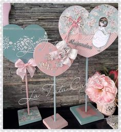 Arts And Crafts, Diy Crafts, Heart Crafts, Love Notes, Little Houses, Shabby Chic Decor, Communion, Ideas Para, Decoupage