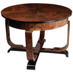 Art Deco Dining Table with Leaf