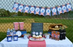 baseball, sports theme Birthday Party Ideas | Photo 1 of 13 | Catch My Party
