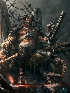 "monsteroll:  ""redskullsmadhouse:  "" Minotaur Berserker by Bogdan-MRK  ""  Happy Father's Day!  """