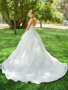 Princess Ball Gown Dress with Cascading Tulle Skirt