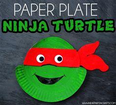 Ninja Turtle Paper Plate Craft