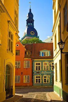 he Old Town, Riga, Latvia