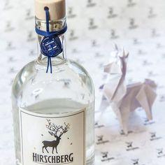 Hirschberg Gin, Origami Hirsch Fiji Water Bottle, Gin, Vodka Bottle, Origami, Drinks, Drinking, Beverages, Origami Paper, Drink