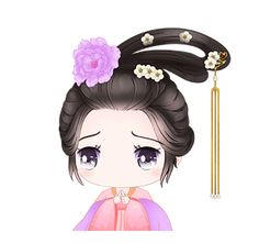 LINE 個人原創貼圖 - Ancient style adorable fairy Example with GIF Animation Gifs, Korean Anime, Whiteboard Animation, Animated Cartoons, Cute Gif, Cute Stickers, Cute Cartoon, Natural Makeup, Fairy