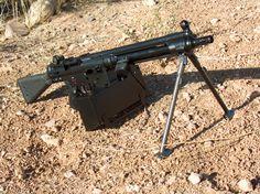 HK 21, 7.62 NATO, belt-fed, light machinegun.