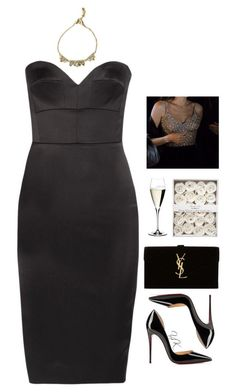 """""""Event"""" by youryulianna ❤ liked on Polyvore featuring Victoria Beckham, Christian Louboutin, Yves Saint Laurent, Riedel and Alexis Bittar"""