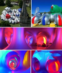 Amococo by Architects of Air. Massive inflatable sculpture for festivals and other events, where guests can wander through its labyrinthine halls.