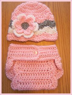Crochet Baby Diaper Cover Set Infant Diaper by crochethatsbyjoyce