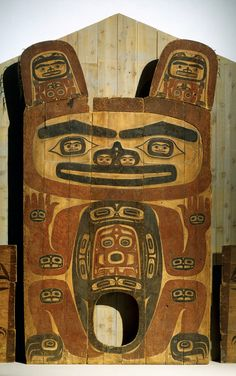 House Partition with Shakes Family Crest - Artist Unknown - Tlingit -  About 1840