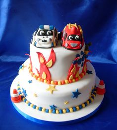 Fire Engine/Police Car Cake | Flickr - Photo Sharing!