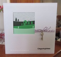 My Craft Room Makes: New Home Card House Of Cards, Place Cards, Place Card Holders, Card Making, Card Crafts, Letter Crafts