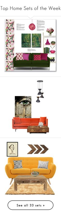 """""""Top Home Sets of the Week"""" by polyvore ❤ liked on Polyvore featuring interior, interiors, interior design, home, home decor, interior decorating, Anthropologie, Authentics, Joybird and Loom and Mill"""