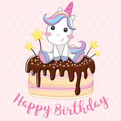 Unicorn Inspired Clothing, Fashion Trends, Accessories, Party Supplies, Gift Items And More Affiliate Happy Birthday Mädchen, Birthday Wishes For Kids, Unicorn Birthday Cards, Happy Birthday Wallpaper, Happy Birthday Wishes Cards, Happy Birthday Images, Birthday Pictures, Birthday Greeting Cards, Birthday Background